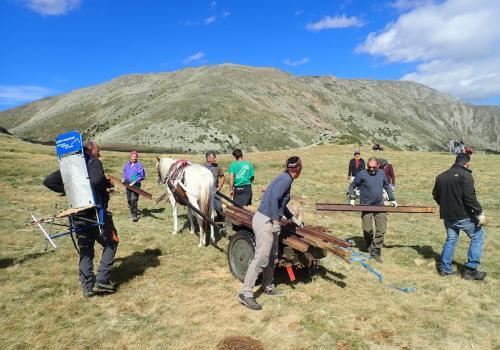 Chantier participatif au Pla Guillem avec Mountain Wilderness / MW