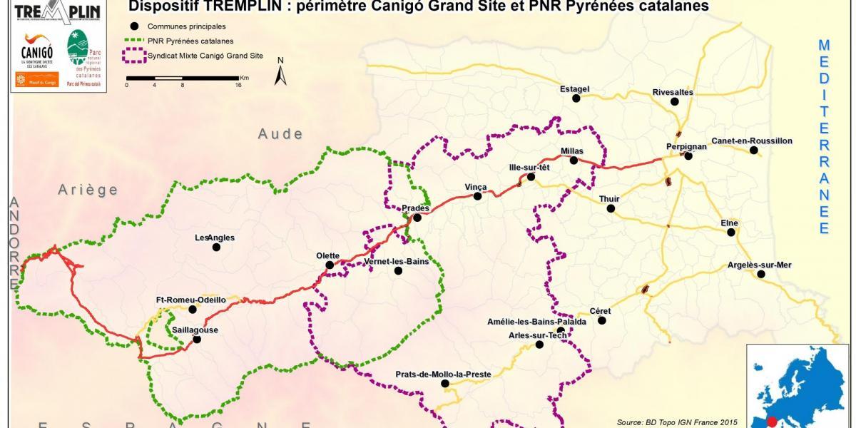 Carte du réseau Tremplin / PNRPC & SMCGS