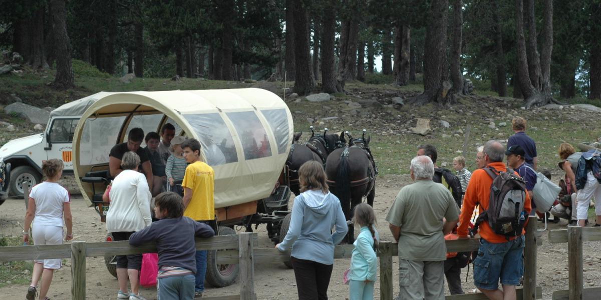 La navette hippomobile sur le site des Cortalets / SMCGS