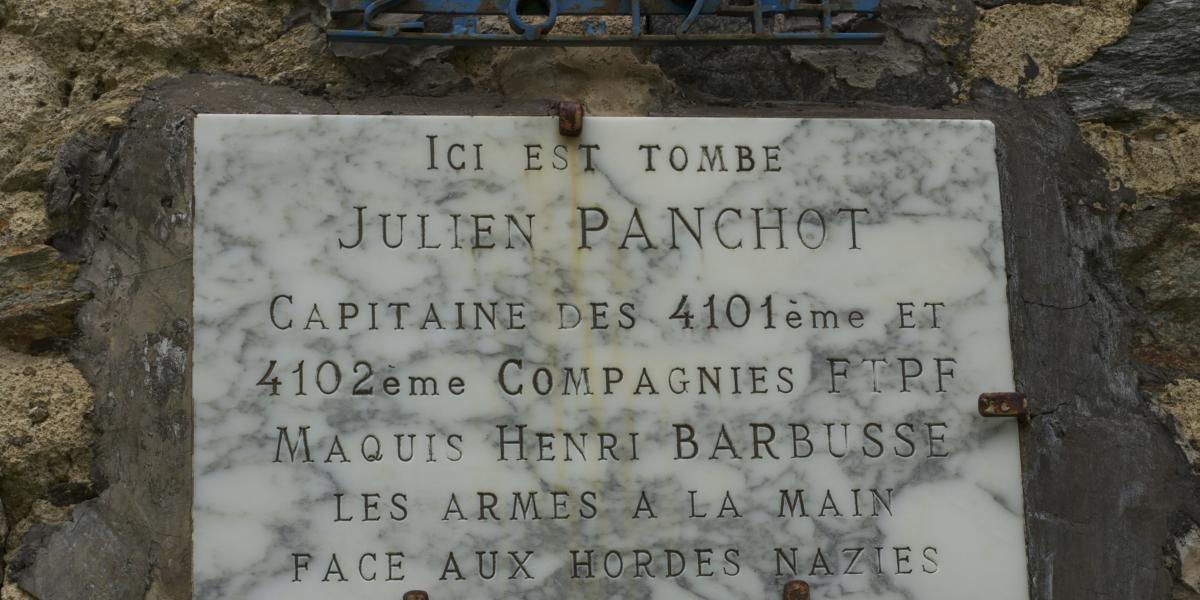 Plaque commémorative Julien Panchot / SMCGS
