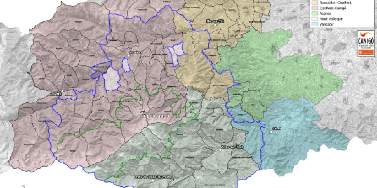 Périmètres du site classé et du Grand Site de France du massif du Canigó