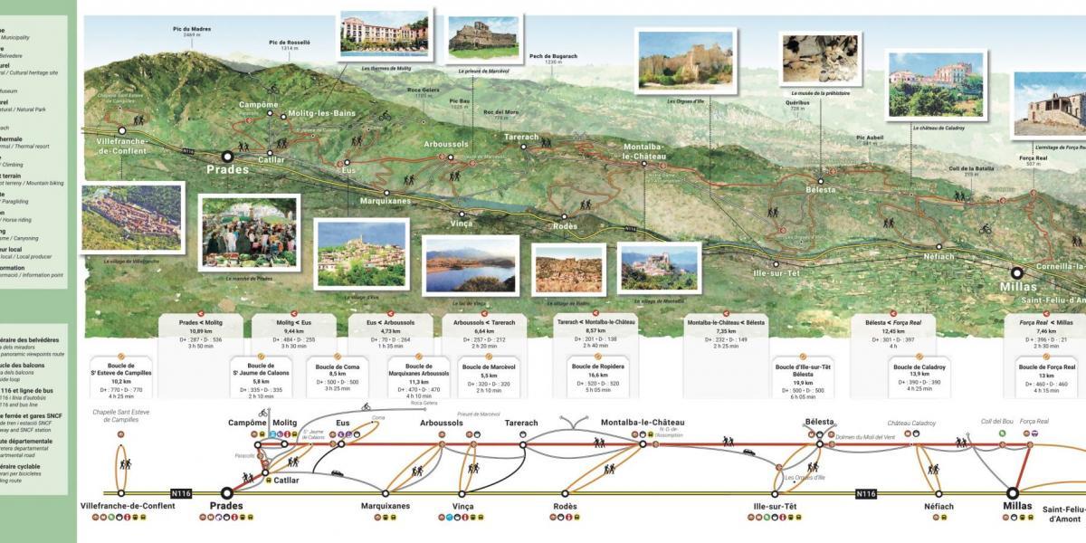 Carte des balcons nord du Canigó / Smcgs