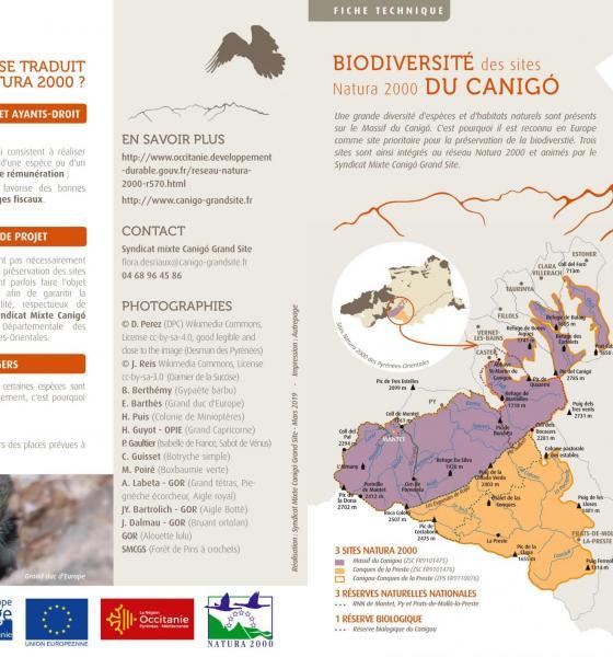 Biodiversité des sites Natura 2000 du Canigó / SMCGS